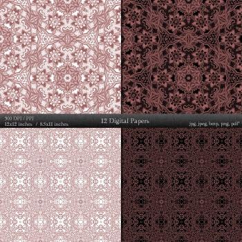 Scrapbook Decorative Piecing Abstract Art Journal  Decoration Scrapbook Template