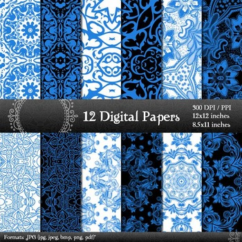 Scrapbook Embroidery Card Indian Premade Vintage Scrap Book Graphics Damask Lace