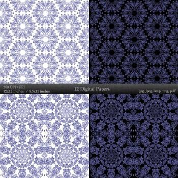 Scrapbook Flower Embellishment Template Mandala Variety Damask Making Sheet Lace