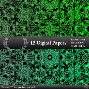 Scrapbook Instant Download Cover Textile Pack Lace Card Art Ornate Album Making