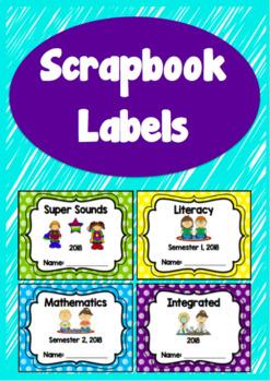 Scrapbook Labels / Covers