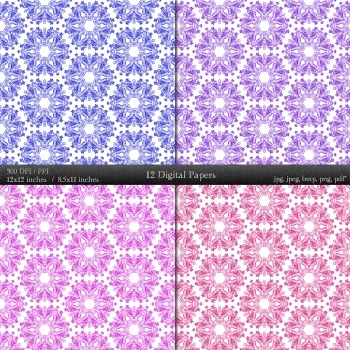 Scrapbook Layout  Decoration Art Piecing  12 X 12 + 8.5 X 11 Decorative Ornate