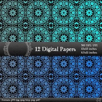Scrapbook Making 12x12 + 8.5x11 Inch Texture Scrapbook Album Pattern Damascus A4