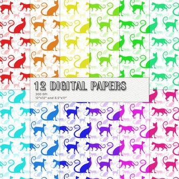 Scrapbook Paper 12x12 + 8.5x11 Inch Drawn Celebration Clipart Clip Holiday Cute