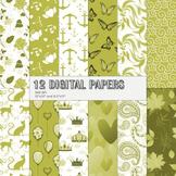 Scrapbook Paper 12x12 + 8.5x11 Inch Lovely Premade Butterflies Sheet Feline Bird