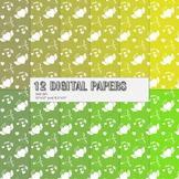 Scrapbook Paper 12x12 + 8.5x11 Inch Scrapbooking Set Instant Download Blossom A4