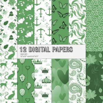 Scrapbook Paper Animal Texture Rose Clip Celebration Event Piecing Album Anchor