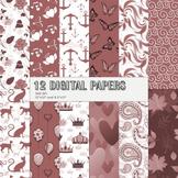 Scrapbook Paper Arabesque Prince Happy Journal Butterfly Autumn Album Fun Kitty