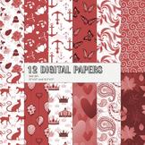 Scrapbook Paper Autumnal Sailing Animal Page Abstraction Crown Nature Circle Fun