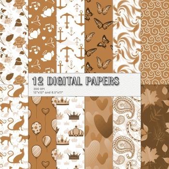 Scrapbook Paper Blossom Natural Animal Seamless Feline Sheet Wave Beauty Art Cat