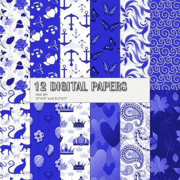 Scrapbook Paper Book Jpeg Embellishment Pack Kitty Cover Crown Wave Lot Album A4