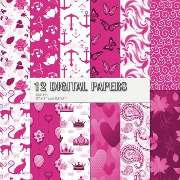 Scrapbook Paper Butterfly Paisley Album Holiday Seamless T