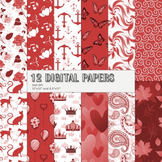 Scrapbook Paper Cake Art 12x12 + 8.5x11 Inch Silhouette Page Repeat Drawn Water