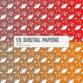 Scrapbook Paper Clipart Event Instant Download Set Template Paper Happy Love Fun