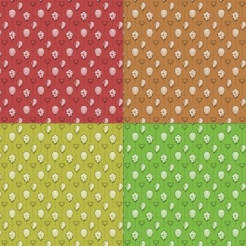 Scrapbook Paper Decoration Party Lot Paper Page Kit Balloon Supplie Seamless Fun