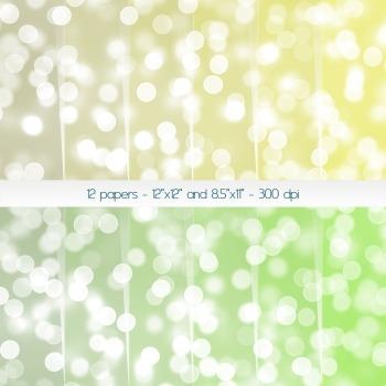 Scrapbook Paper Digital Blur Background Template Journal Sparks Bloom Art Bokeh
