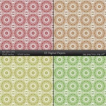 Scrapbook Paper Embellishment Clipart Album Page Lot Scrapbooking Cover Damascus