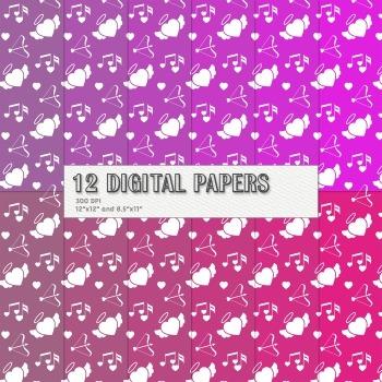 Scrapbook Paper Flower 12x12 85x11 Inch Valentine Lovely Book