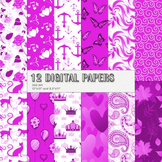 Scrapbook Paper Insect Set Holiday Cat Happy Page Collag Summer Abstract Anchor