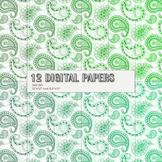 Scrapbook Paper Journal Paisley Decoration Lot Graphics Sc