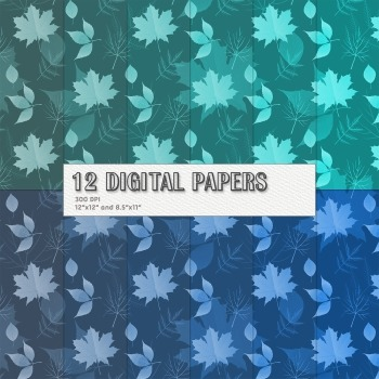 Scrapbook Paper Jpeg Leaf Event Scrapbooking Paper Digital Scrapbook Background