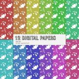 Scrapbook Paper Jpg Embellishment Set Fun Album Cover Card Page Texture Bird Art