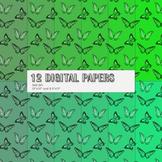 Scrapbook Paper Kit Background Butterflies Cover Book Jour