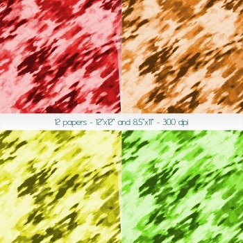 Scrapbook Paper Making Background Piecing Mixture Clip Set Pack Water Cover Mix