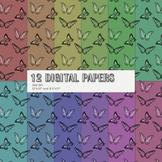 Scrapbook Paper Pattern Event Jpeg Butterflies Jpg Summer