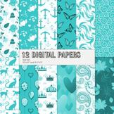 Scrapbook Paper Printable Pattern Scrap Booking Template Layout Autumn Maritime