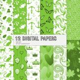 Scrapbook Paper Pyssycat 12x12 + 8.5x11 Inch Kit Spring Tradicional Printable A4