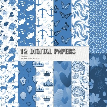 Scrapbook Paper Sailor Prince Decoration Kittycat Graphics