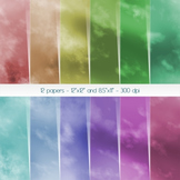 Scrapbook Paper Scape Page Storm Pattern Smoke Album Sky B