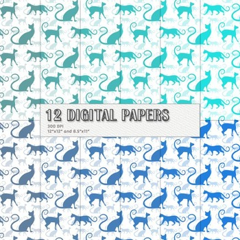 Scrapbook Paper Scrap Booking Embellishment Mammal Seamless Cat Pet Journal Cute
