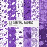Scrapbook Paper Scrap Booking Set Drawn Maritime Decoration Butterflies Creative