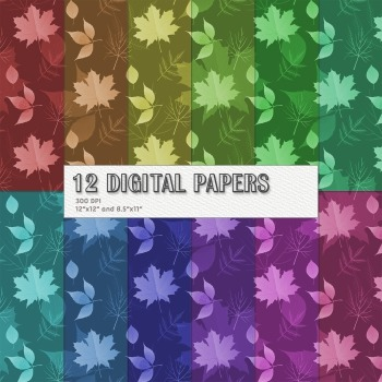 Scrapbook Paper Seamless Book Page Leaf Birthday Instant Download Lot Clip Event