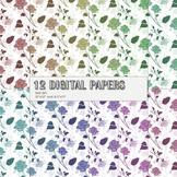 Scrapbook Paper Seamless Scrap Booking 12x12 + 8.5x11 Inch Supplie Album Event