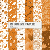 Scrapbook Paper Set Collag Scrap Book Arabesque Happy Page Lot Creative Autumn