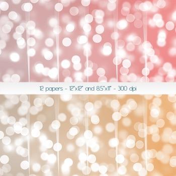 Scrapbook Paper Supplie Set Journal Decoration Blurred Tex