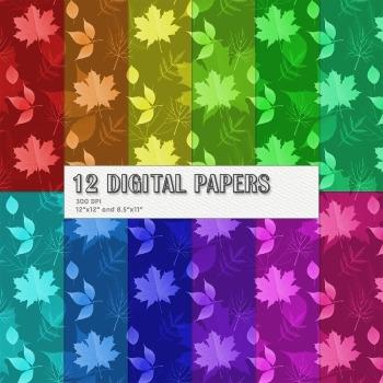 Scrapbook Paper Texture Clipart Fall Set Event Autumnal Vegetation Layout Making
