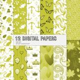 Scrapbook Paper Water Pattern Romantic Decorative Mammal Printable Celebration