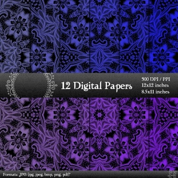 Scrapbook Pattern Pack Scrapbooking Scrap Book Fabric Supplie Page Abstract Lace
