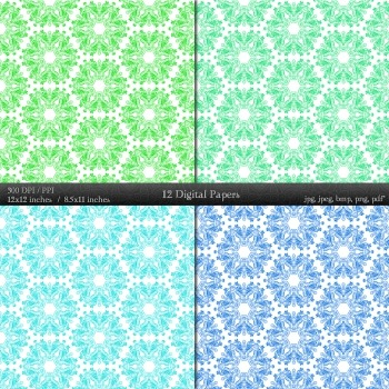 Scrapbook Retro Collag Premade Digital Texture Decorative Book Printable Pack A4