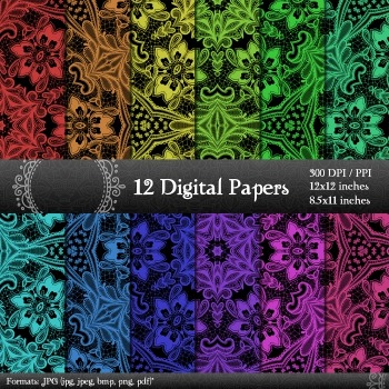 Scrapbook Scrapbook Collag Page Textile Abstract Piecing Album Pack Sheet Fabric