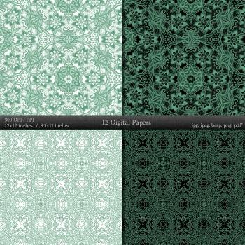 Scrapbook Scrapbook Kit Collag Damascus Digital Variety  12 X 12 + 8.5 X 11 Jpg