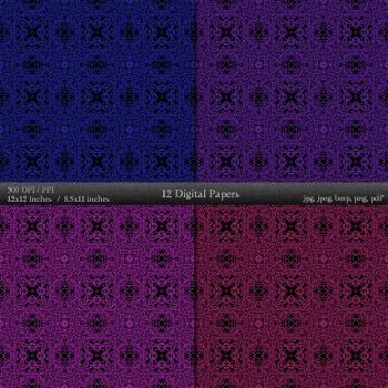 Scrapbook Seamless Graphics Embellishment Journal  12 X 12 + 8.5 X 11 Scrap Book
