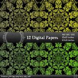 Scrapbook Sheet Pack Paper Instant Download Jpg Art Album