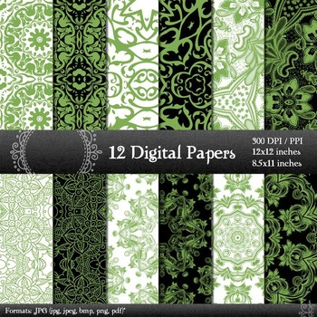 Scrapbook Supplie Ornate Clipart Retro Indian Damask Embellishment Clip Abstract