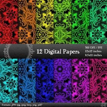 Scrapbook Texture  Decoration Art Kit Printable Instant Download Journal Fabric