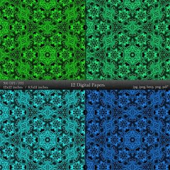 Scrapbook Texture  Decoration Art Kit Printable Instant Download Journal Fabric